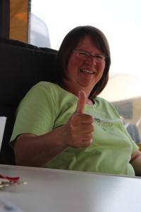 Die Tagessiegerin der Rennklasse: Marianne Brandes